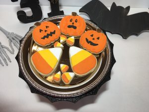 Halloween Jack-o-lanterns and candy corn