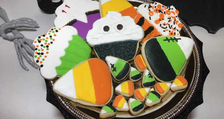 Halloween cupcakes and candy corn