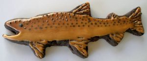 German Brown Trout Chocolate Sugar Cookie