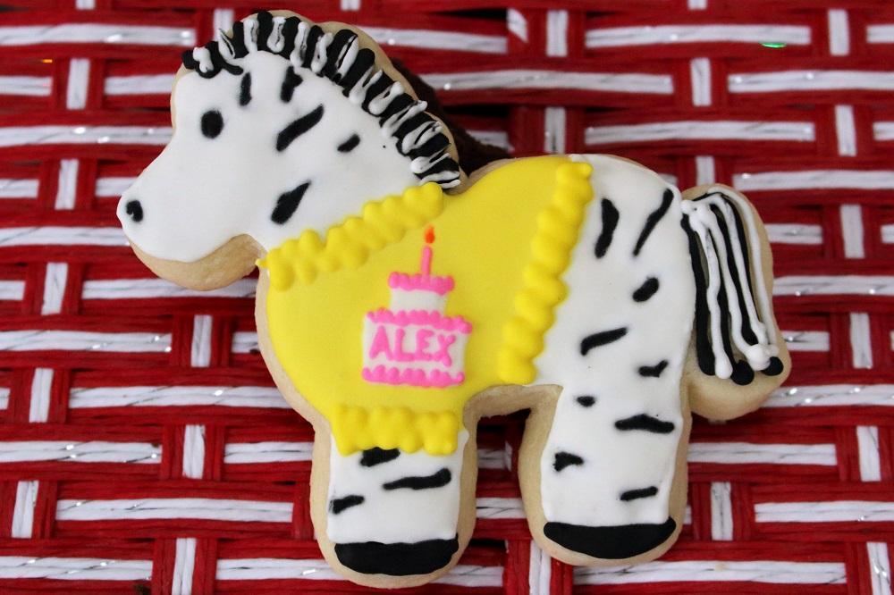 Zebra with cake