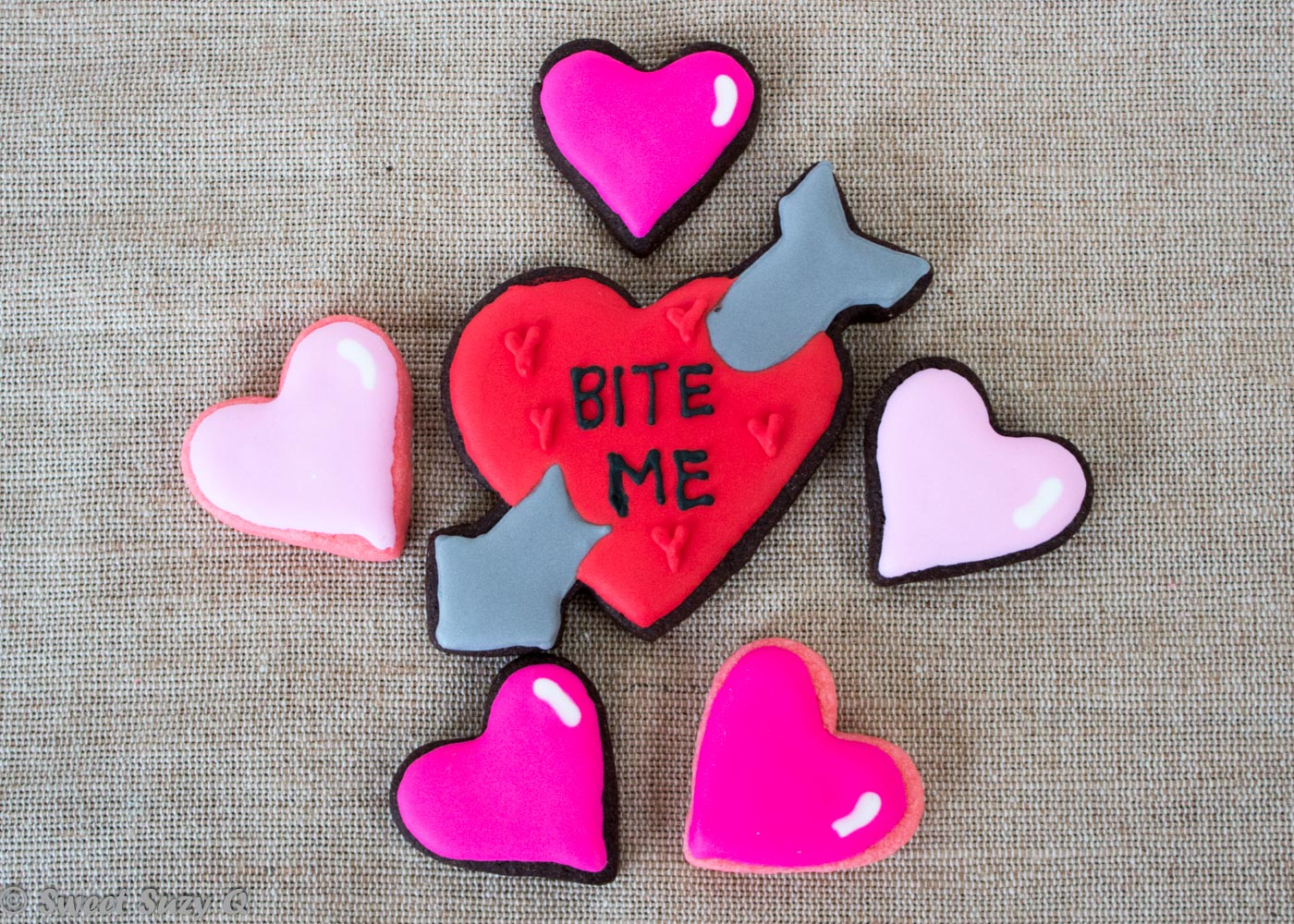 Anti Valentine's Day cookies