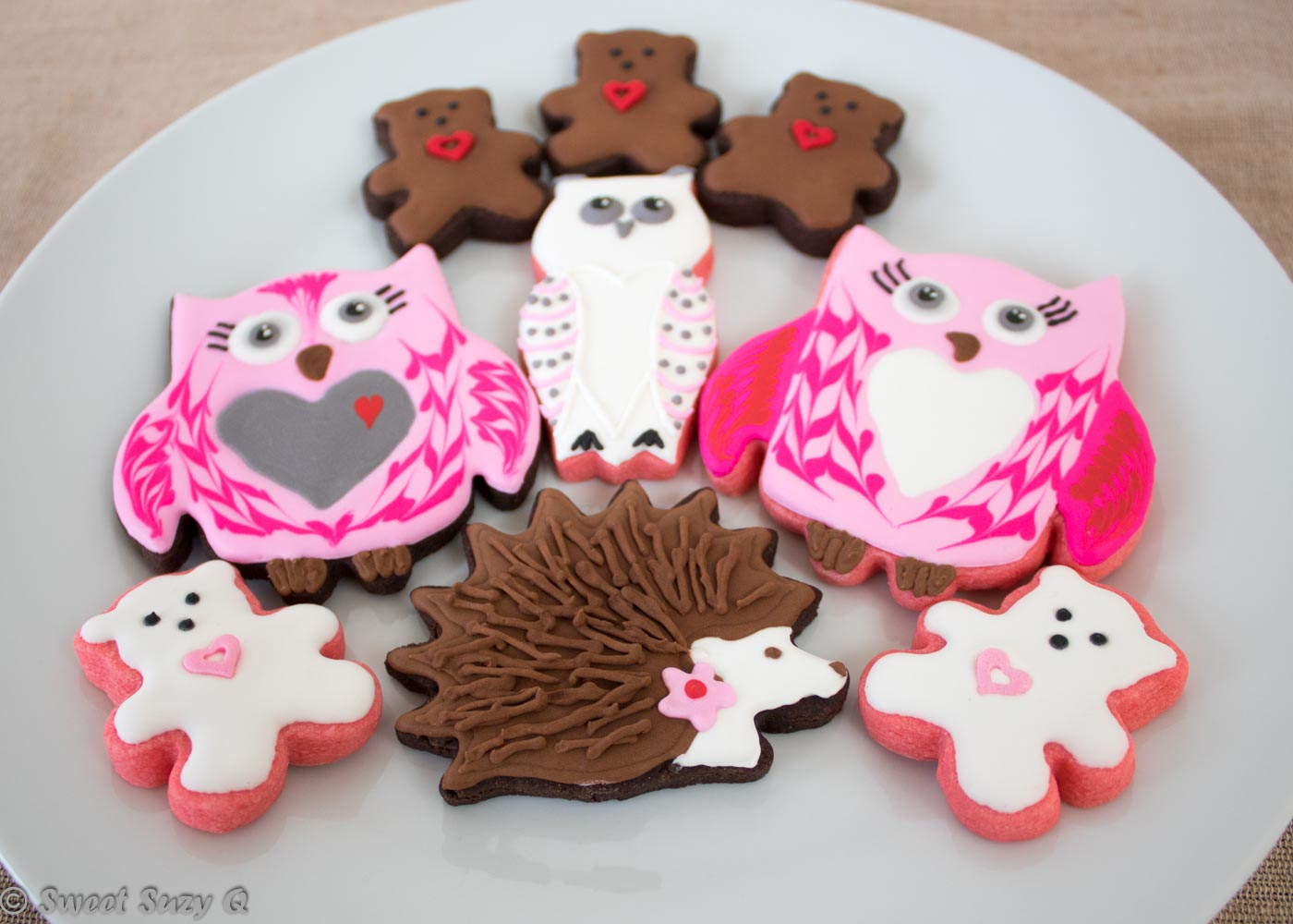 Valentine's Day animal cookies