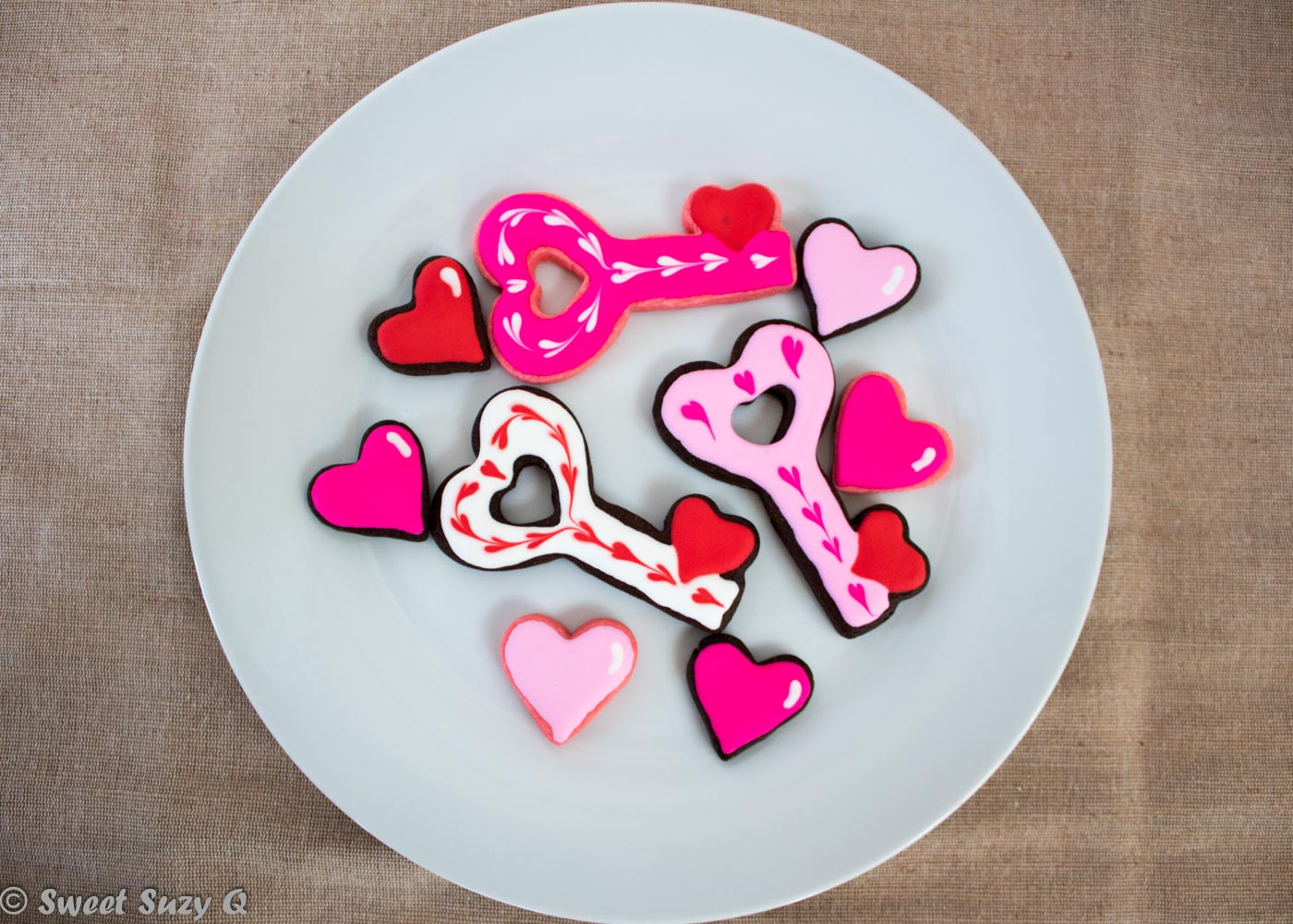Valentine's Day key cookies