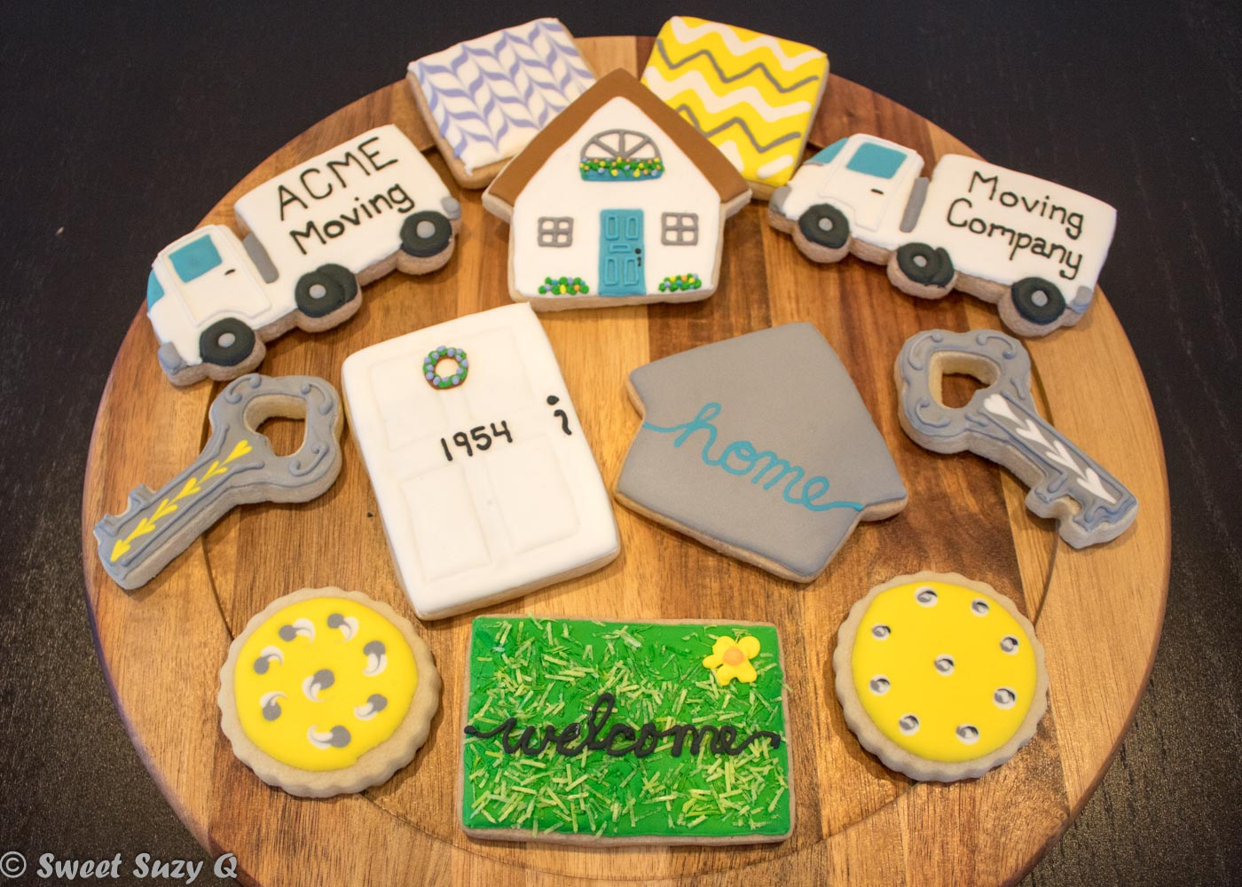 real estate themed cookies