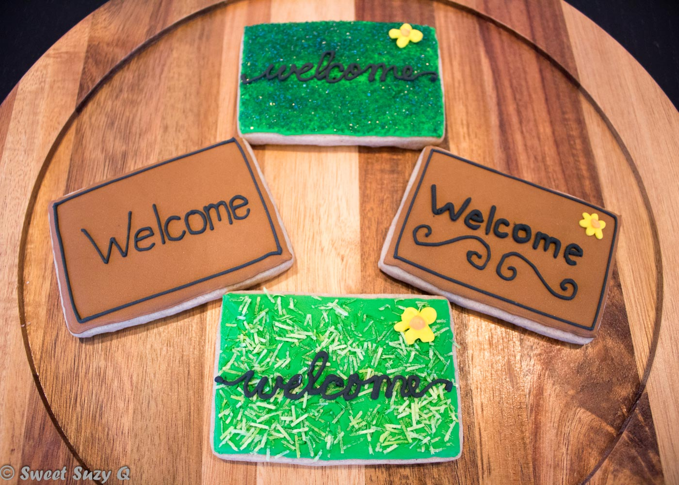 Welcome mat cookies
