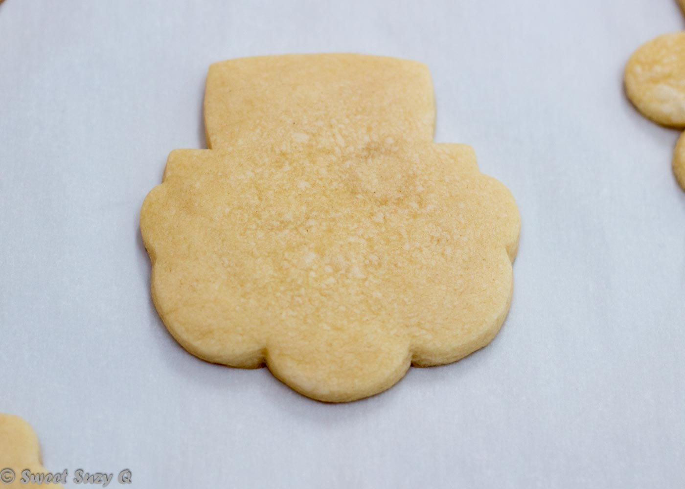 Baked leprechaun cookie